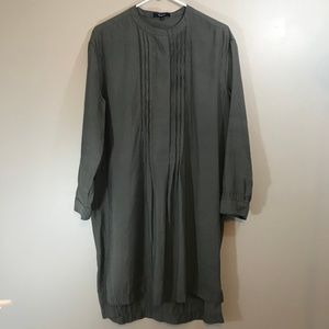 Madewell Pleated Front Tunic Dress Size L